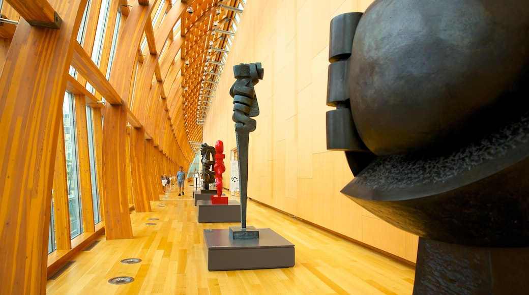 Art Gallery of Ontario showing art, interior views and a statue or sculpture