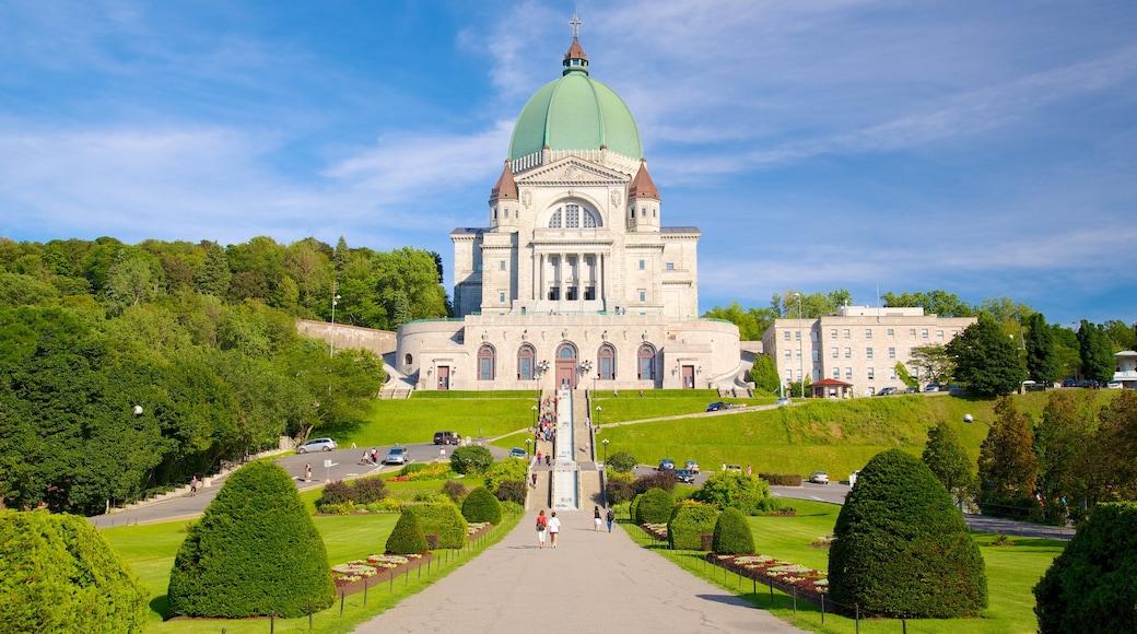 St.-Josephs-Oratorium welches beinhaltet Burg, Park und Kirche oder Kathedrale