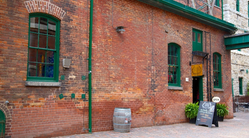 The Distillery Historic District showing a city