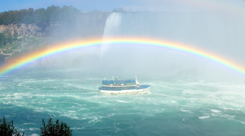 Journey Behind The Falls which includes a waterfall, boating and a river or creek