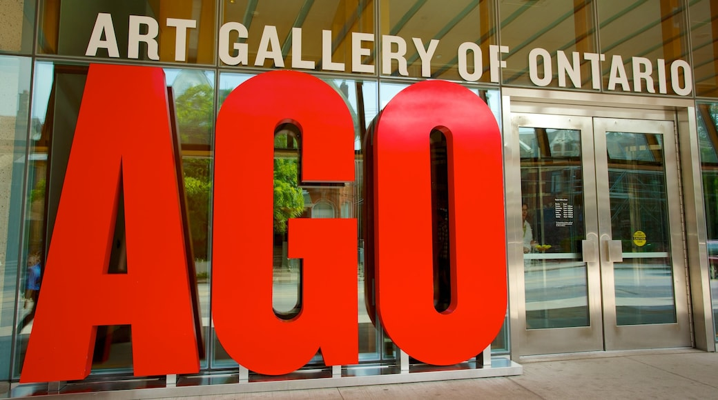 Art Gallery of Ontario showing art and signage