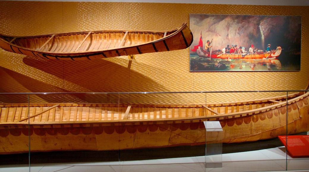 Royal Ontario Museum showing interior views and art