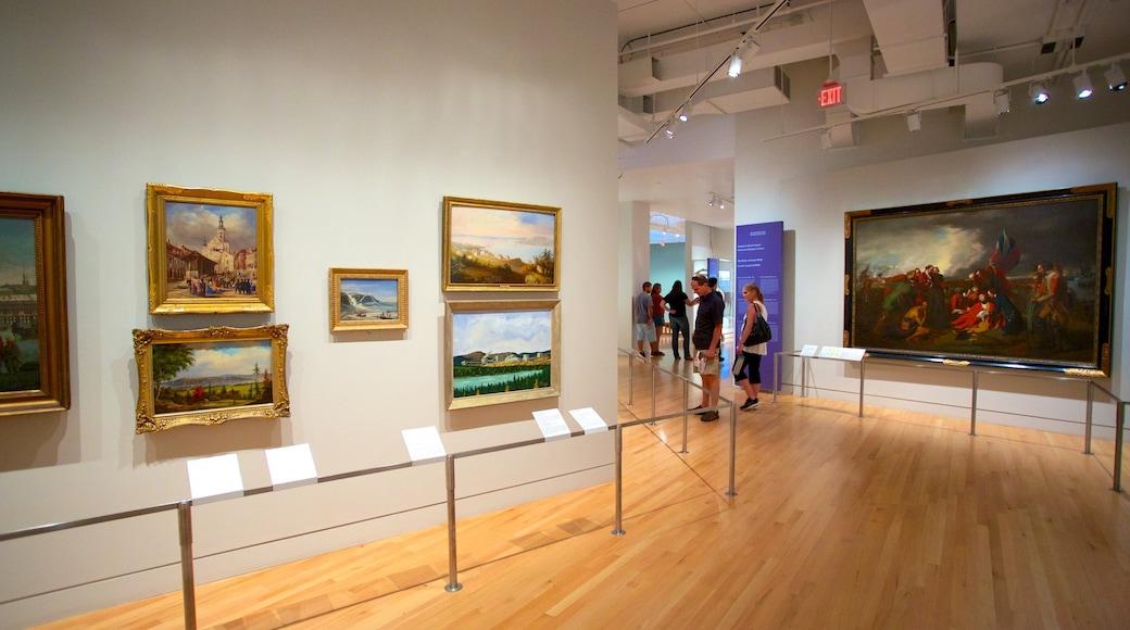 Royal Ontario Museum showing art and interior views