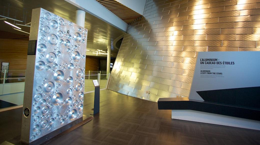 Montreal Planetarium das einen Innenansichten, moderne Architektur und Beschilderung