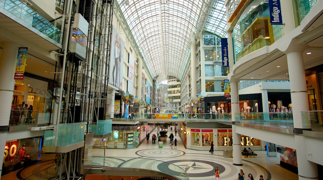 Toronto Eaton Centre showing shopping, cbd and interior views
