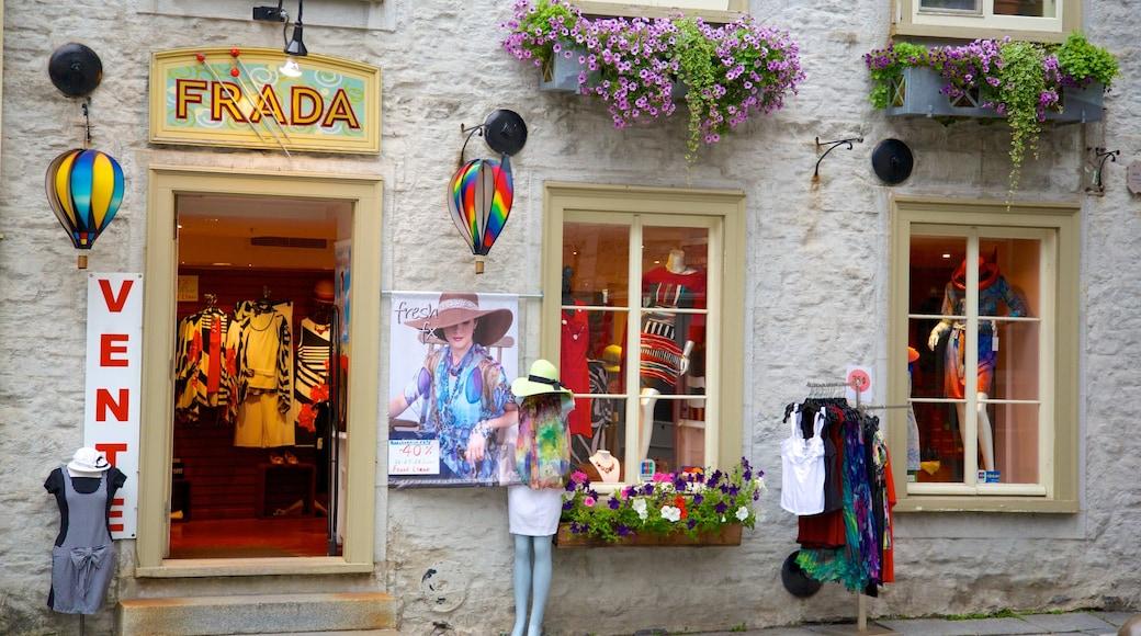 Place Royale ofreciendo moda, señalización y compras
