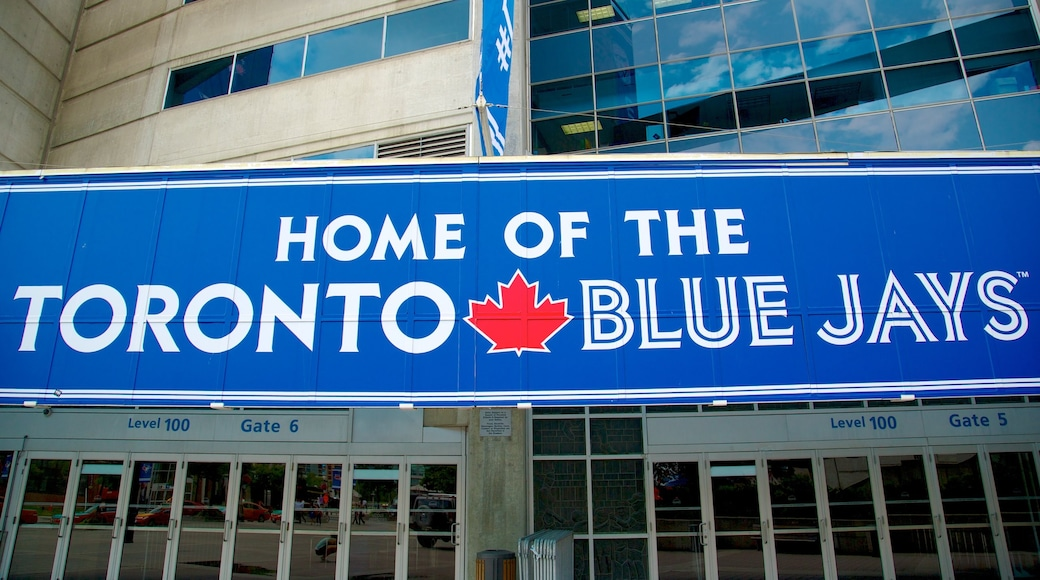 Rogers Centre which includes signage
