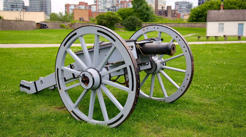 Fort York National Historic Site featuring a memorial and military items