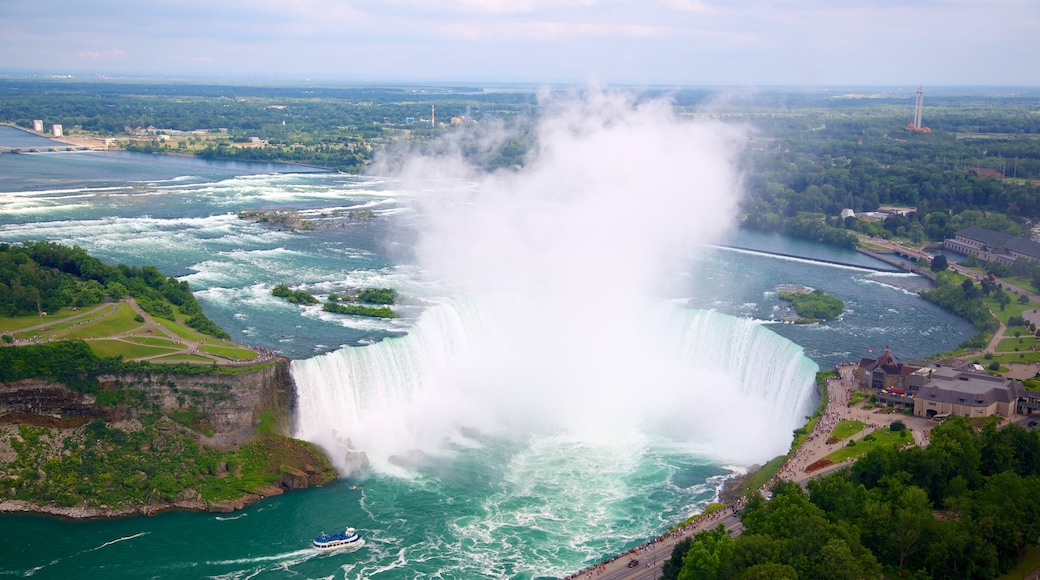 Skylon Tower showing landscape views, a cascade and a river or creek