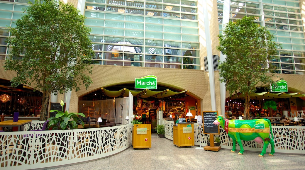 PATH Underground Shopping Mall showing outdoor eating, interior views and café scenes