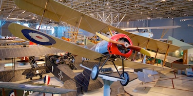 Canada Aviation and Space Museum featuring aircraft and interior views