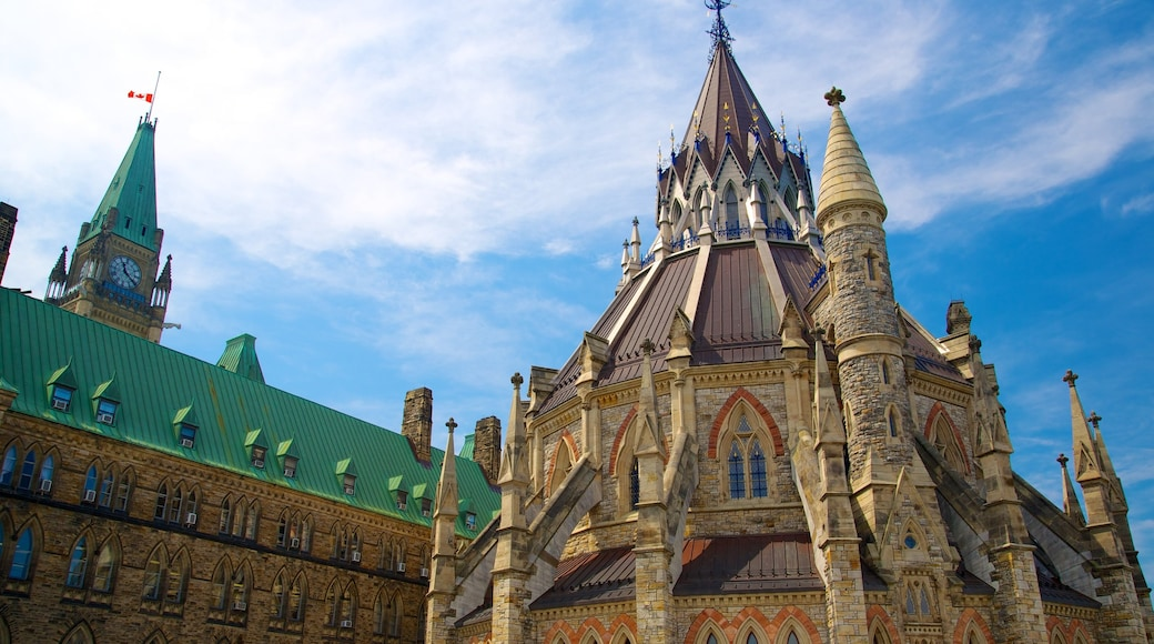Parliament Hill which includes heritage architecture and an administrative building
