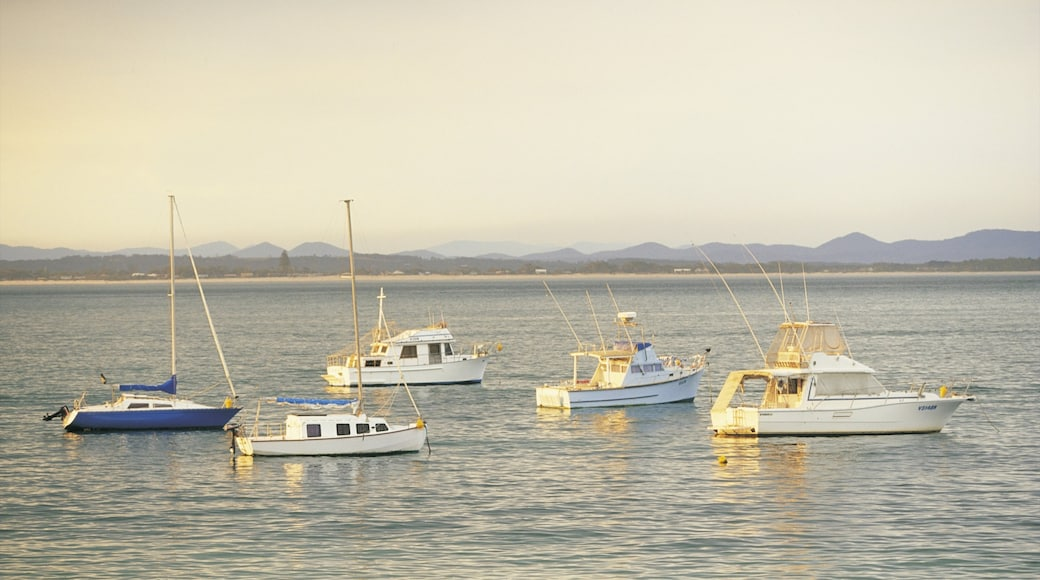 Port Stephens which includes boating and general coastal views