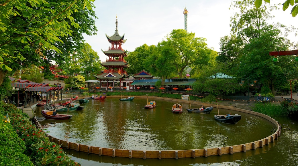 Jardins de Tivoli mettant en vedette balades, parc et sports aquatiques