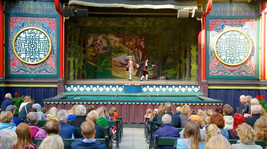 Jardins de Tivoli montrant balades, scènes de théâtre et arts de la scène