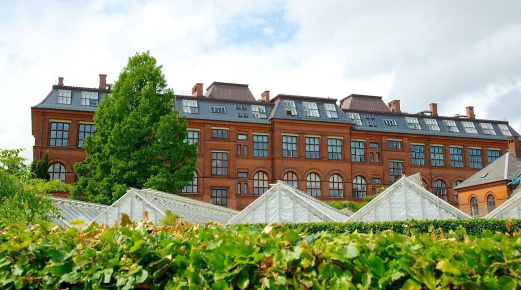 Botanischer Garten welches beinhaltet historische Architektur und Park