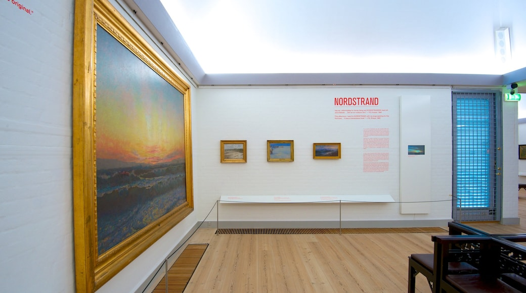 Skagens Museum featuring interior views and art