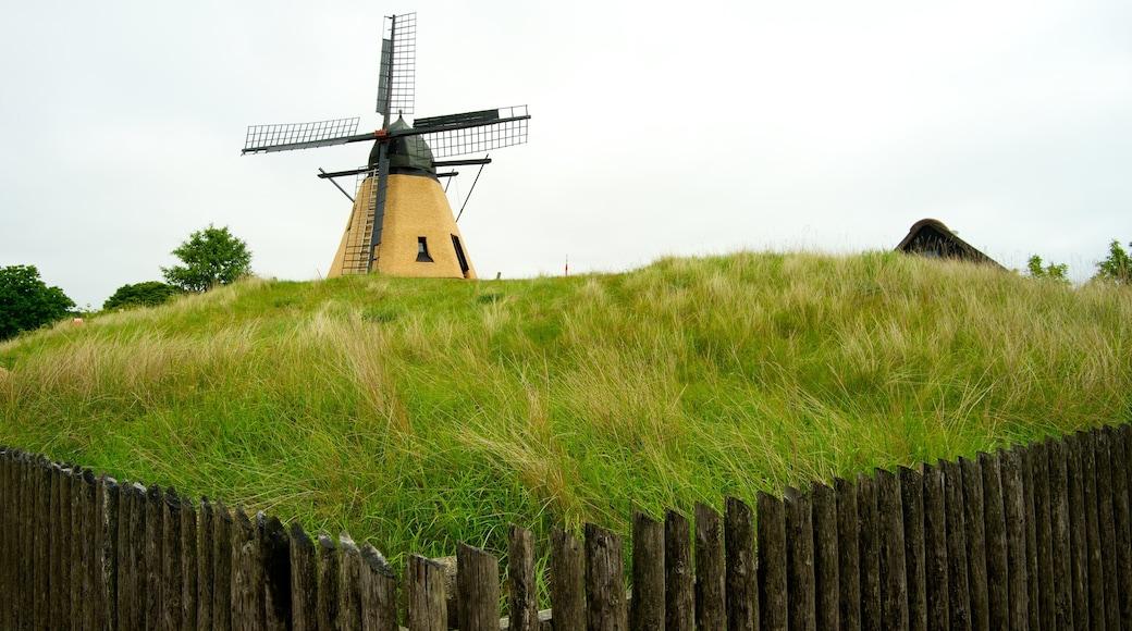 Bangsbo herregård fasiliteter samt rolig landskap og vindmølle