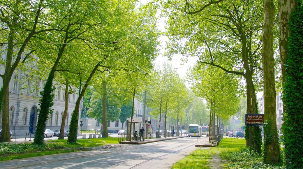 Antwerpen inclusief een park, een stad en spoorwegen