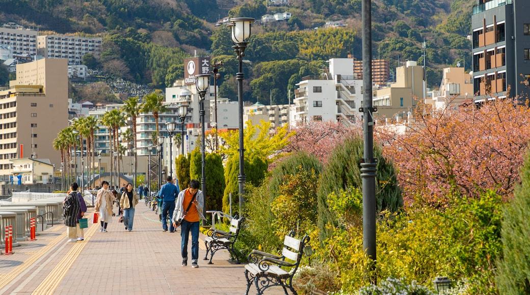 Atami Sun Beach featuring a garden and street scenes