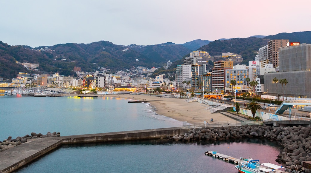 Atami featuring a bay or harbor and a coastal town