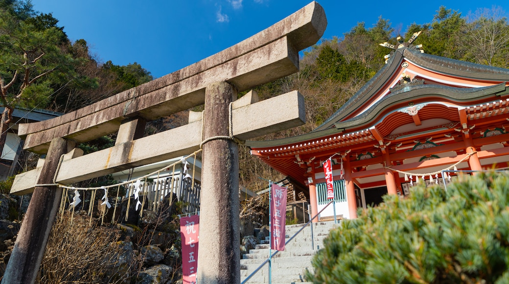 Shosenkyo featuring a temple or place of worship and heritage elements