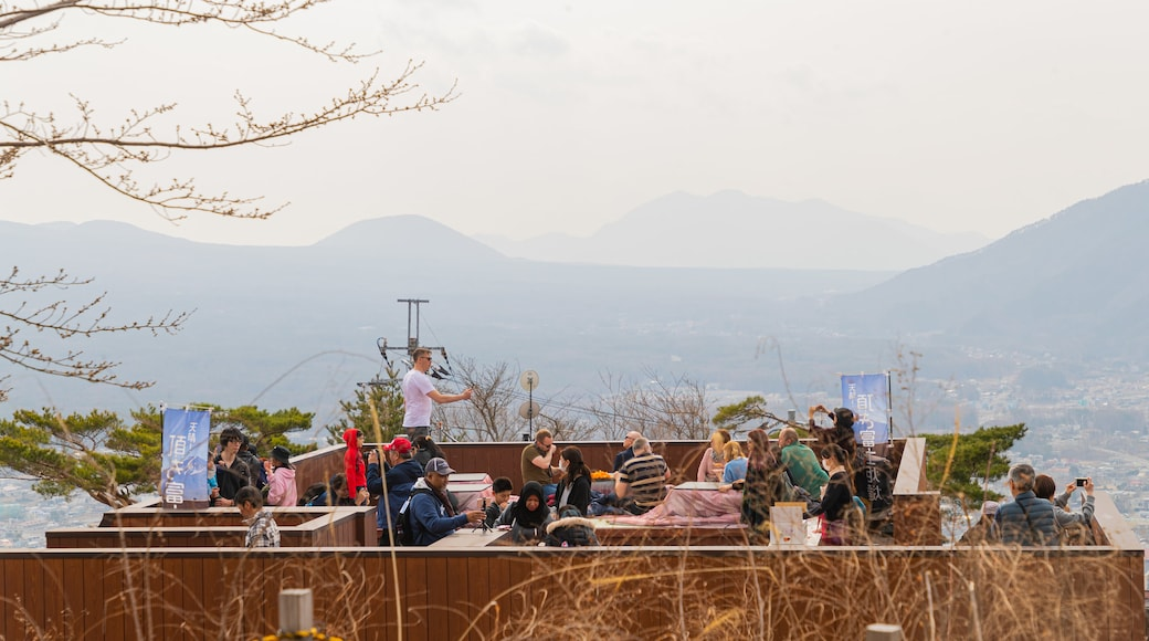 Mt. Kachi Kachi Ropeway showing views as well as a small group of people