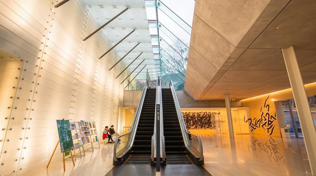 Pola Museum of Art featuring interior views