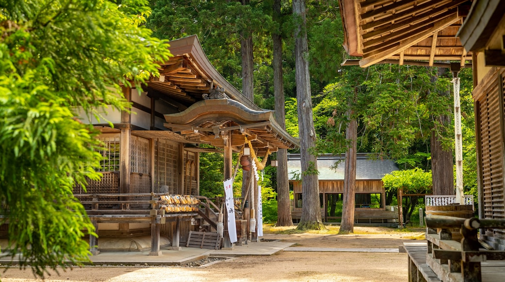 Izushi Shrine which includes heritage elements and a temple or place of worship