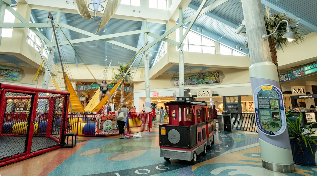 Coastal Grand Mall featuring interior views, shopping and a playground