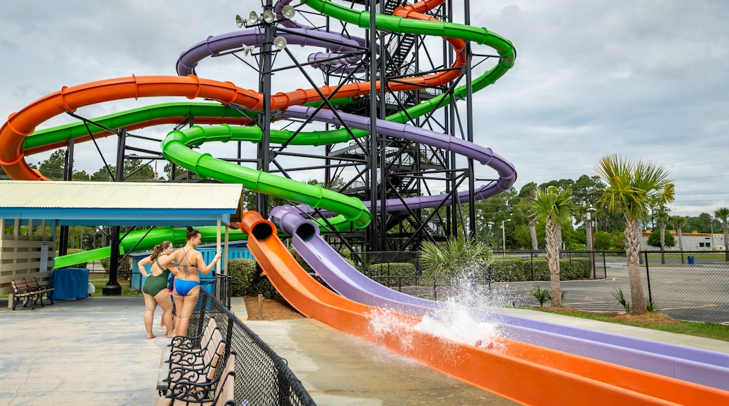 Myrtle Waves showing a waterpark