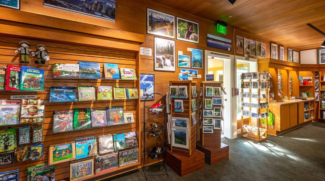 Olympic National Park Visitor Center showing interior views