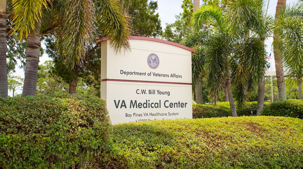 Bay Pines VA Medical Center which includes signage