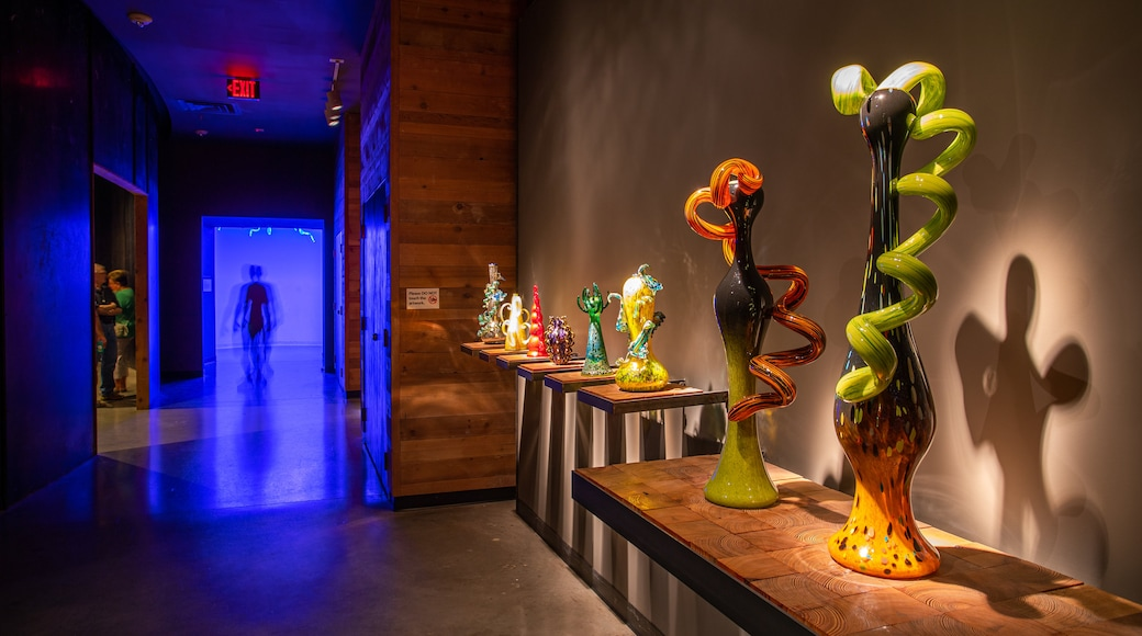 Chihuly Collection showing interior views and art