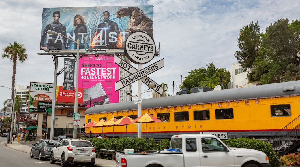 West Hollywood showing signage