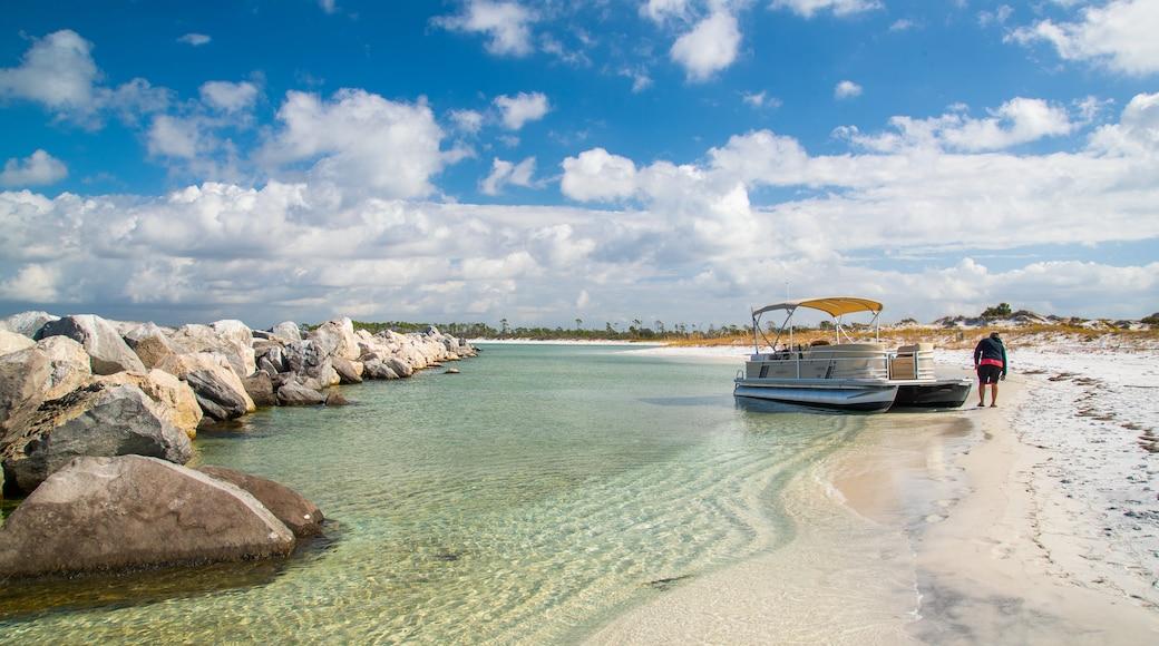 Florida Panhandle featuring general coastal views and a beach