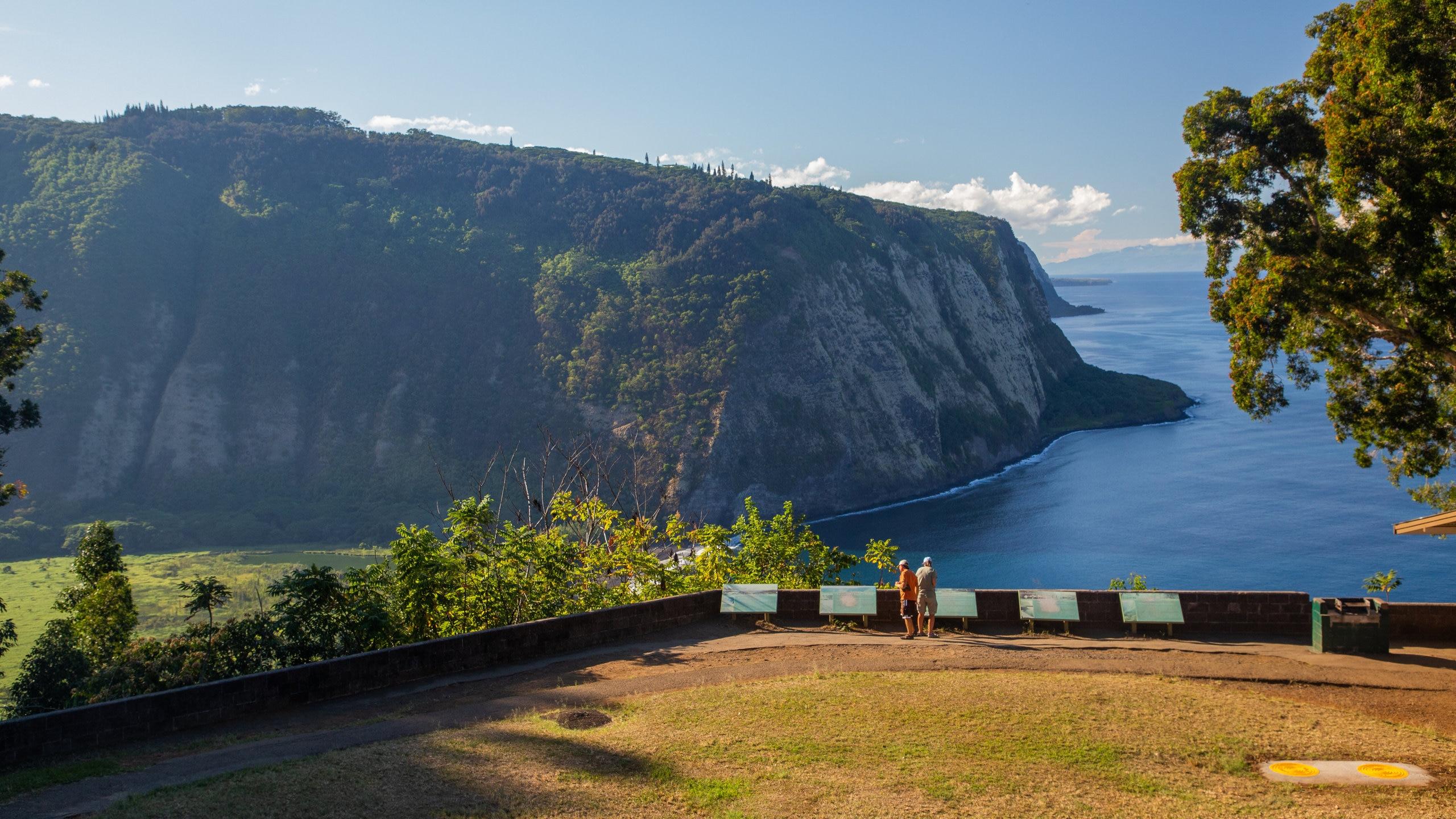 Waipio Valley Lookout, Honokaa, Hawaï, Verenigde Staten