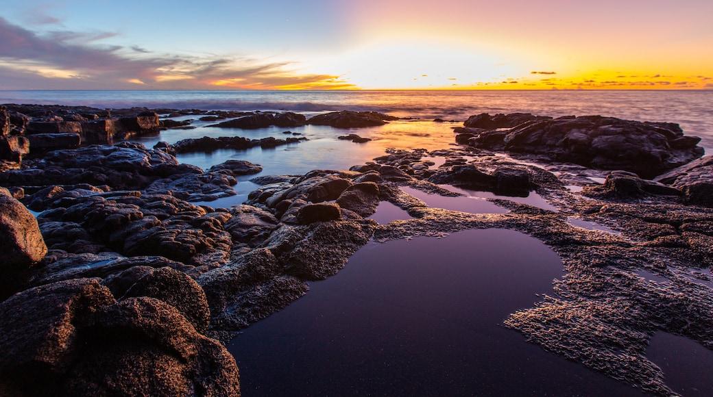 Kailua-Kona featuring general coastal views and a sunset