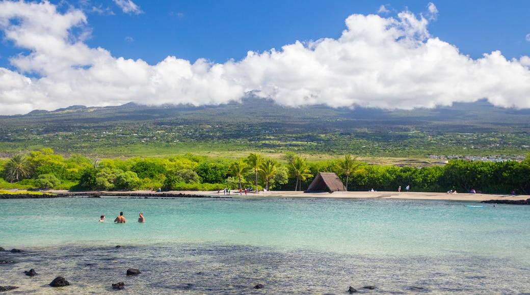 Kaloko-Honokohau National Historical Park featuring general coastal views, swimming and tranquil scenes