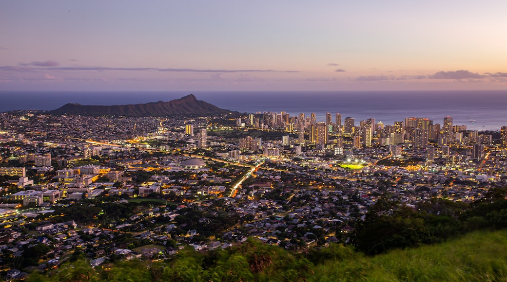 Waikiki featuring landscape views, a sunset and a city