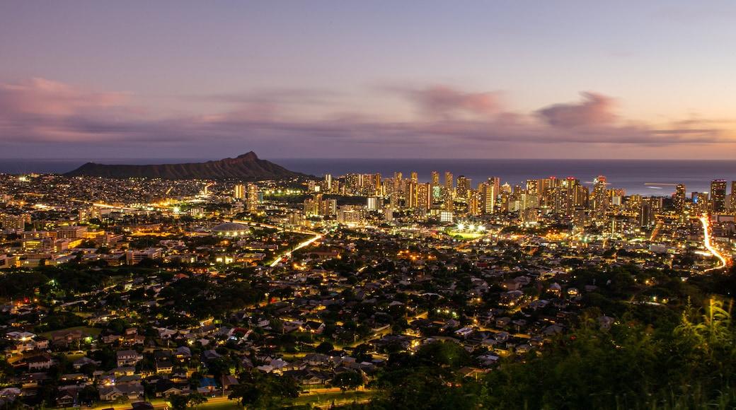 Waikiki featuring landscape views, a city and a sunset