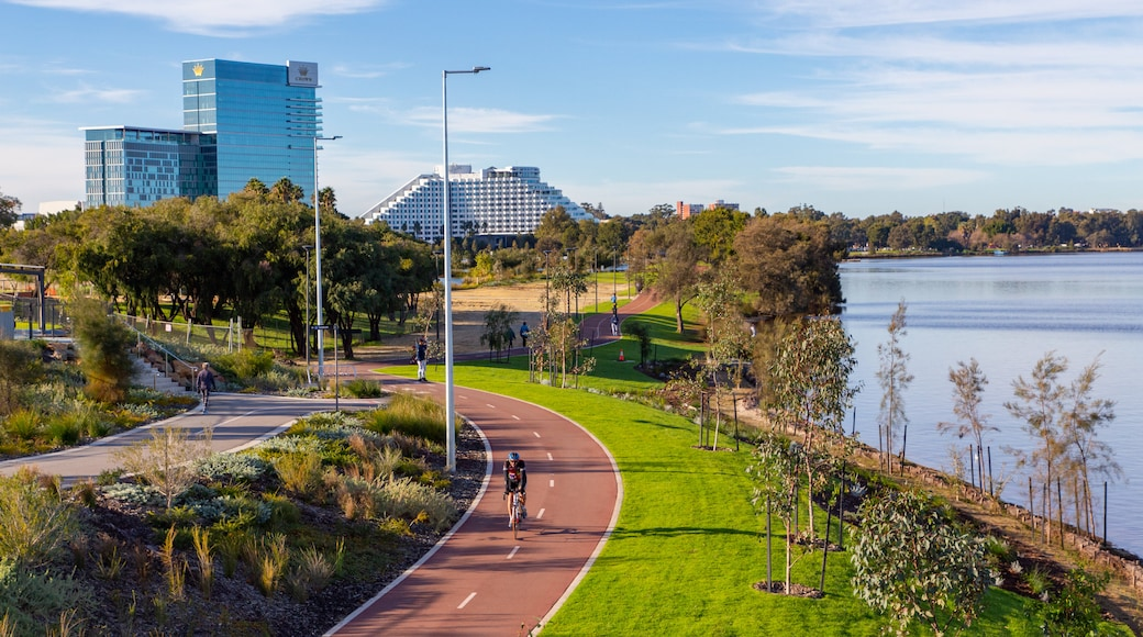 Burswood featuring a river or creek and a garden