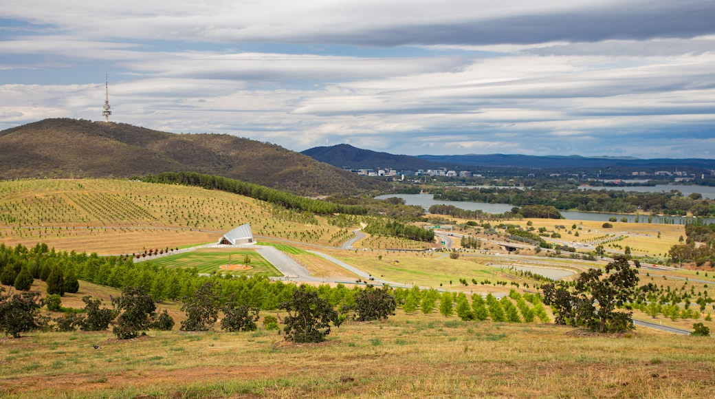 National Arboretum Canberra which includes landscape views and tranquil scenes