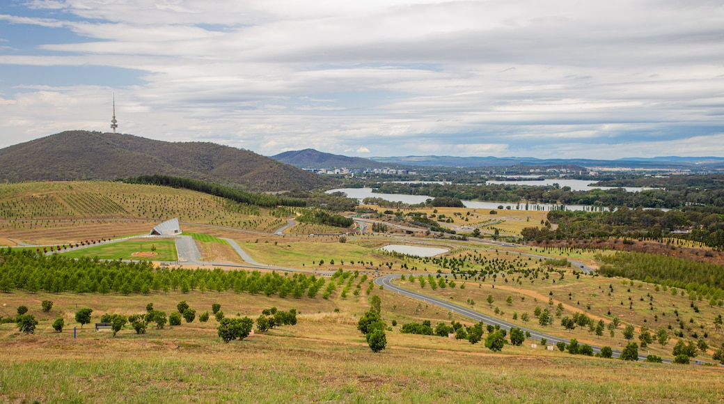 National Arboretum Canberra which includes farmland, landscape views and tranquil scenes
