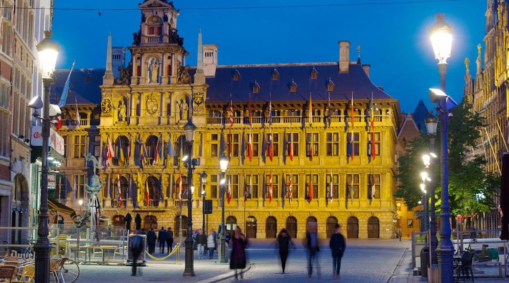 Grote Markt in Antwerpen inclusief historische architectuur, een stad en straten