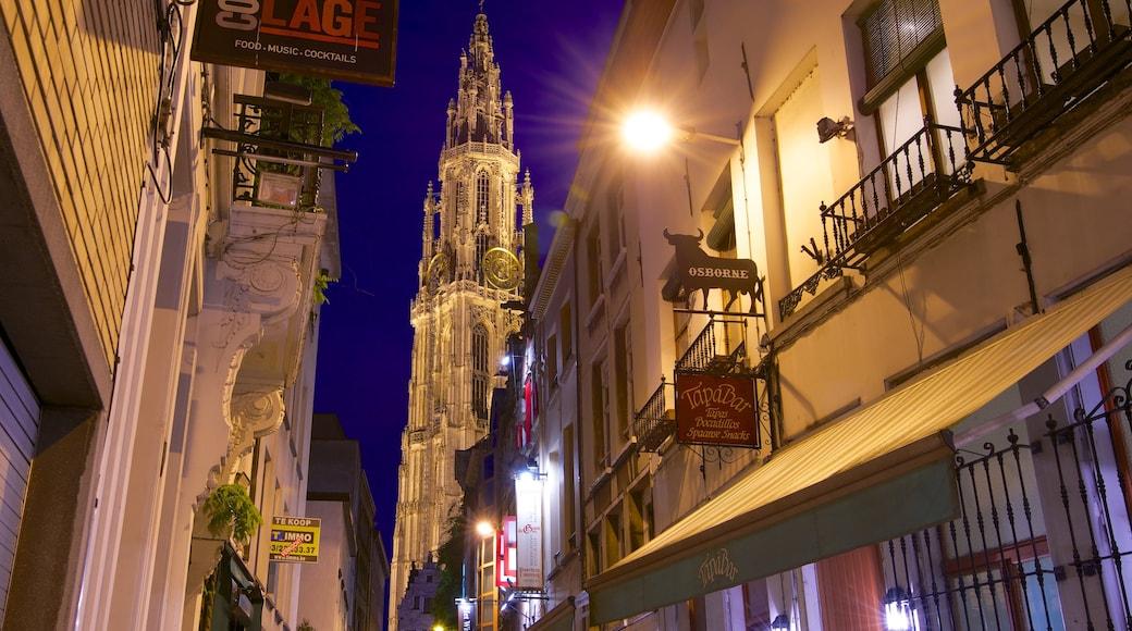 Cattedrale di Nostra Signora caratteristiche di paesaggio notturno, città e architettura d\'epoca