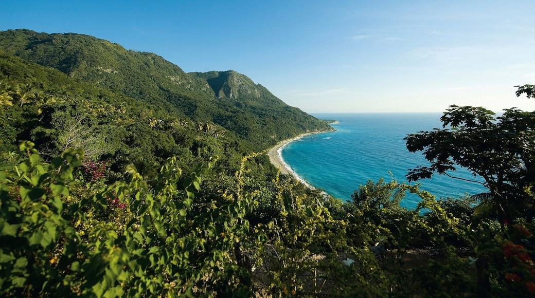 Barahona featuring mountains, general coastal views and landscape views