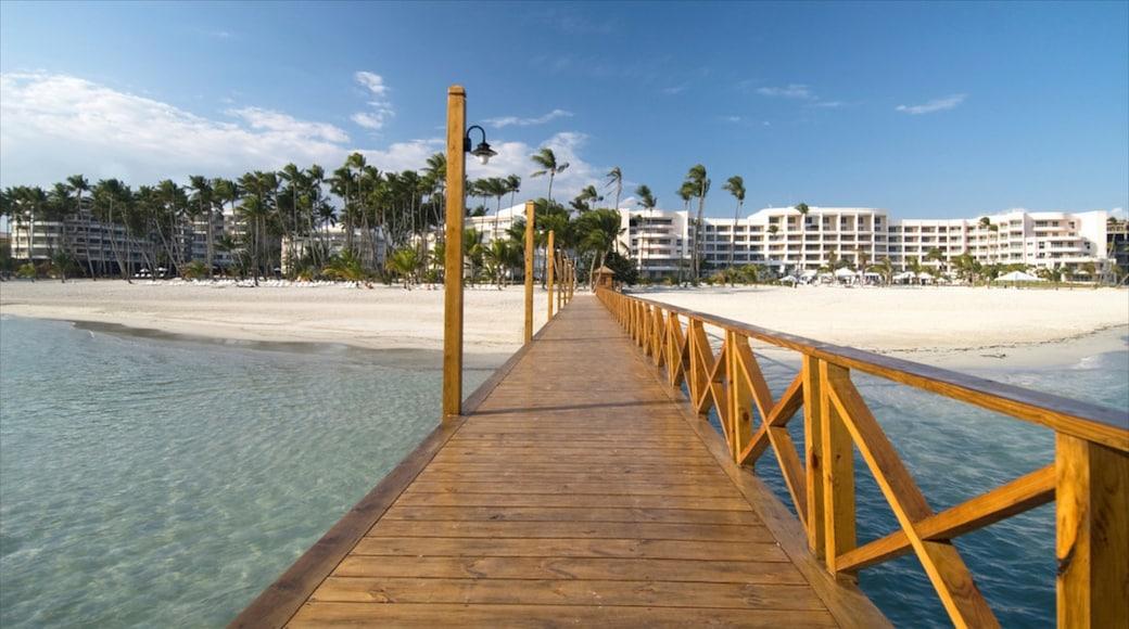 Juan Dolio which includes views, a coastal town and a beach