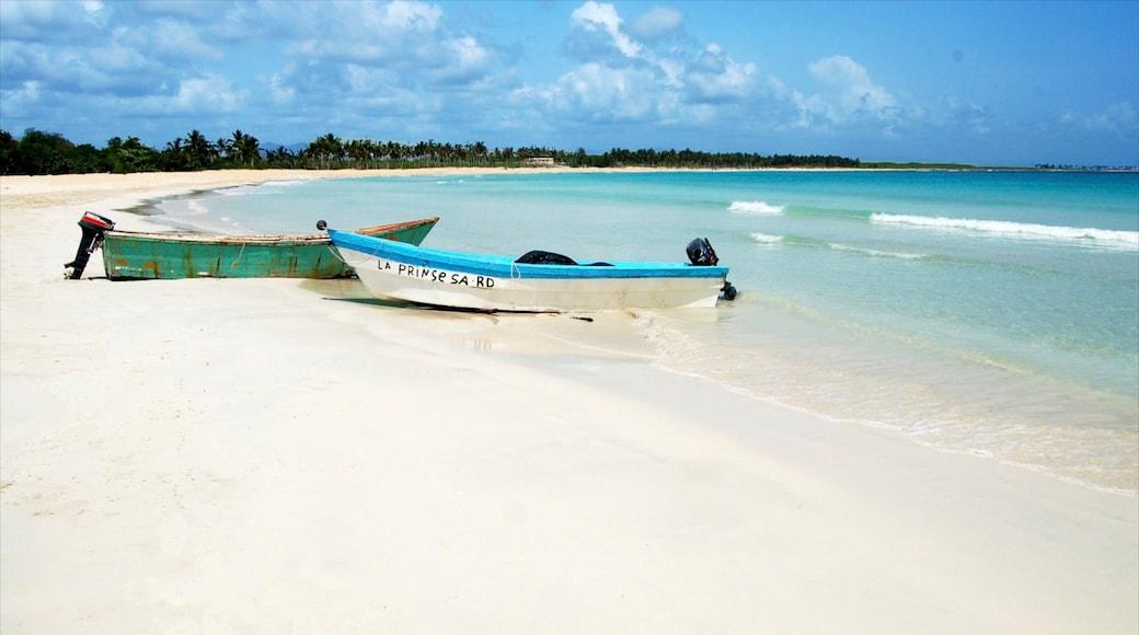 Isla Saona caracterizando cenas tropicais, paisagem e uma praia de areia