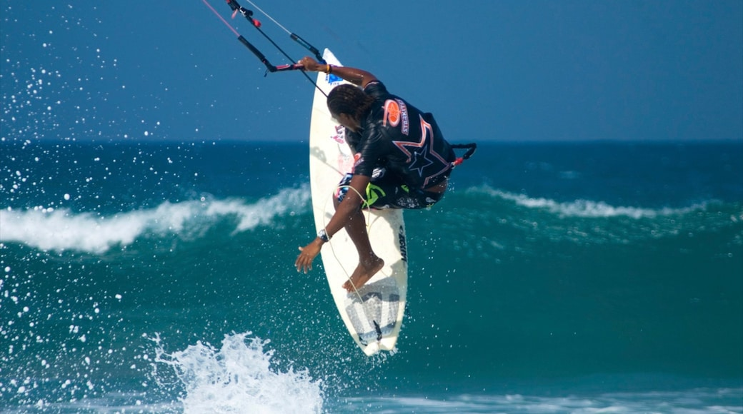 Cabarete which includes waves and kite surfing as well as an individual male